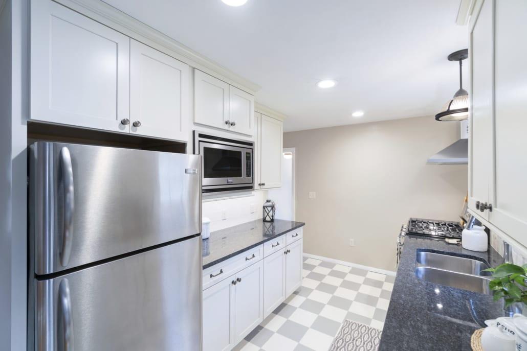 Modern White Galley Kitchen Rhode Kitchen Amp Bath Design