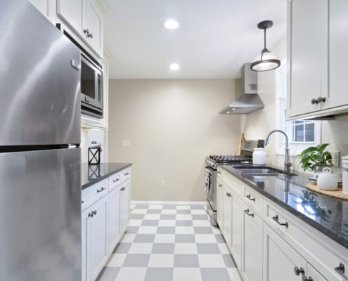 Galley-Kitchen-Remodel-Waypoint-Cabinets-GE-Appliances