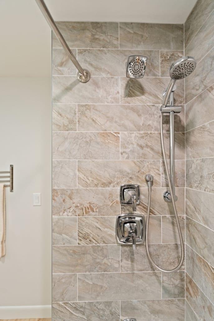 . Natural Stone Retreat Bathroom   Rhode Kitchen   Bath Design Build