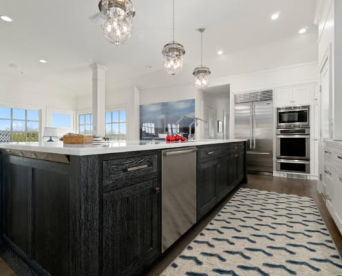 Newport-Kitchen-Remodel-Custom-Shaker-Cabinets-Island-SubZero