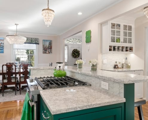 Colorful Transitional Kitchen Sink
