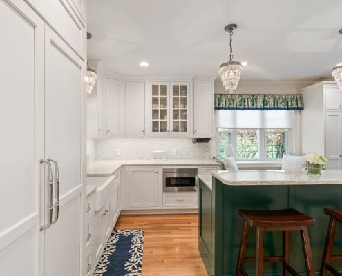 Colorful Transitional Kitchen