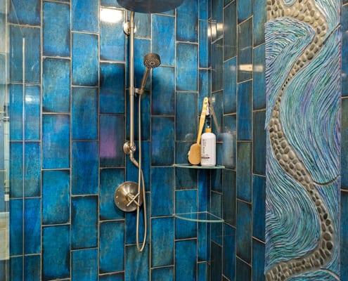 Colorful-Blue-tile-shower