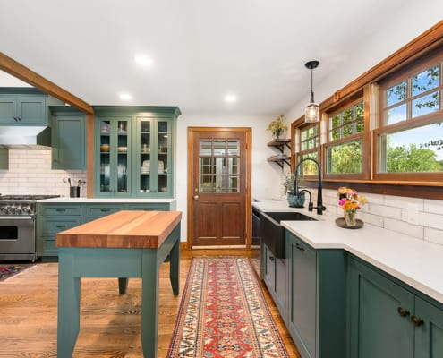 eclectic-green-kitchen