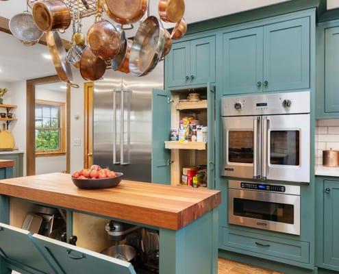 modern-farmhouse-green-kitchen-island-storage